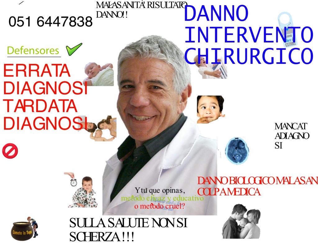 Paziente danno malasanita' Bologna consenso informato Errore medico. Cassazione 10055/2011: il medico risponde per errata diagnosi e ha l'obbligo di informare il paziente. Consenso informato del medico